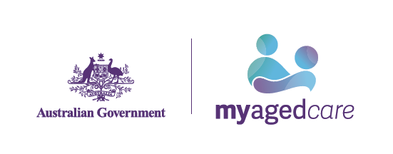Australian Government and My Aged Care logo